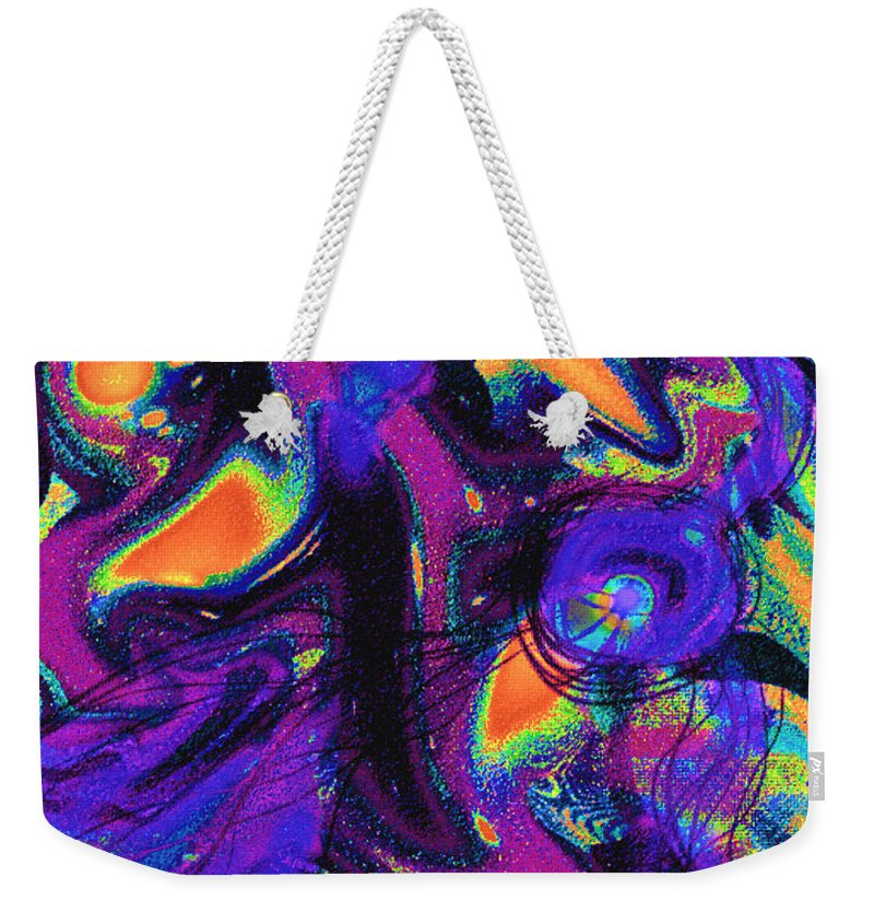 Abstract Design Weekender Tote Bag featuring the digital art Digital Picture Abstract Bq157 by Oleg Trifonov