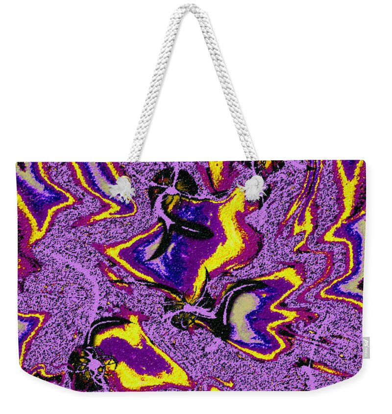 Abstract Design Weekender Tote Bag featuring the digital art Digital Picture Abstract Bq174 by Oleg Trifonov