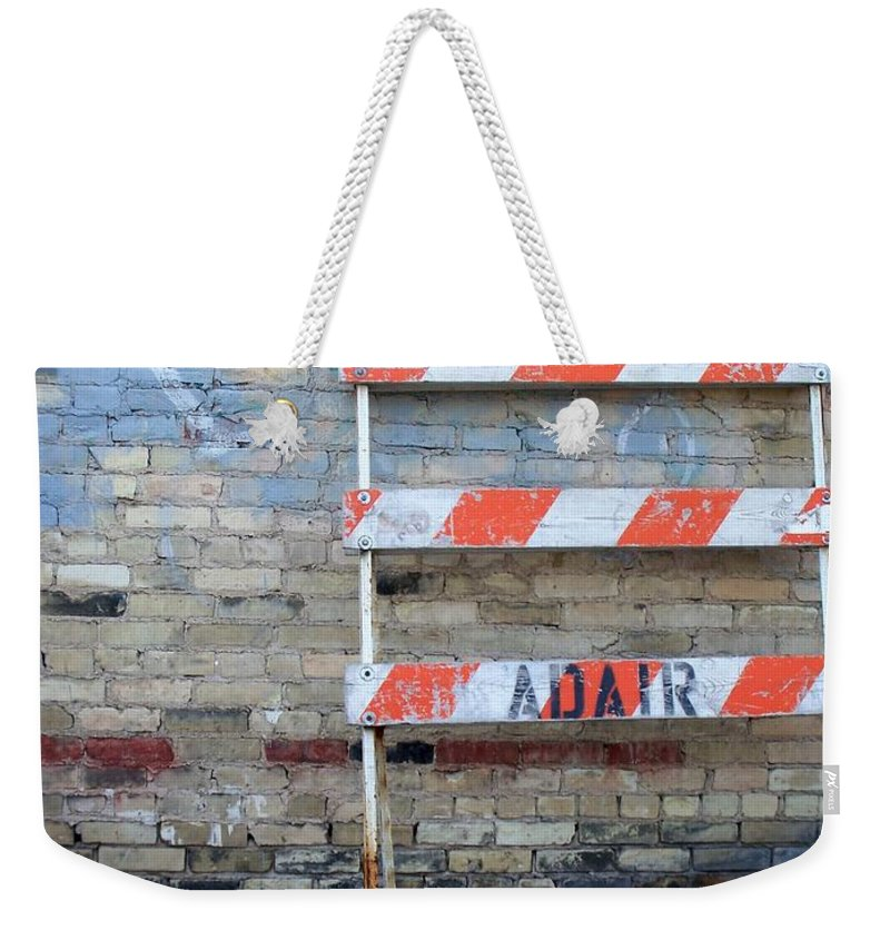 Industrial Weekender Tote Bag featuring the photograph Abstract Brick 1 by Anita Burgermeister