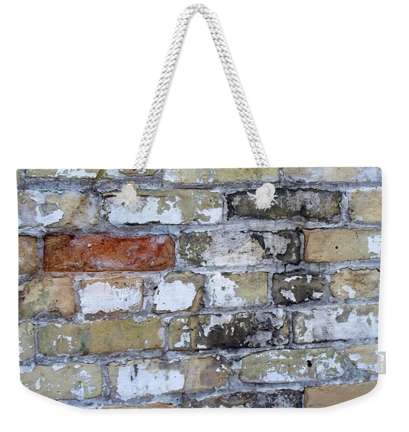Industrial Weekender Tote Bag featuring the photograph Abstract Brick 10 by Anita Burgermeister