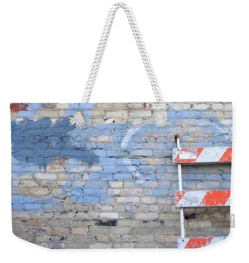 Industrial Weekender Tote Bag featuring the photograph Abstract Brick 2 by Anita Burgermeister