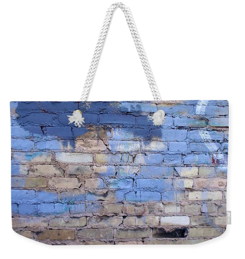Industrial Weekender Tote Bag featuring the photograph Abstract Brick 3 by Anita Burgermeister