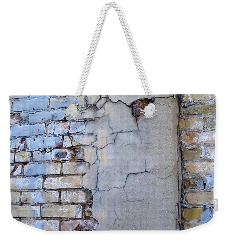Industrial Weekender Tote Bag featuring the photograph Abstract Brick 4 by Anita Burgermeister