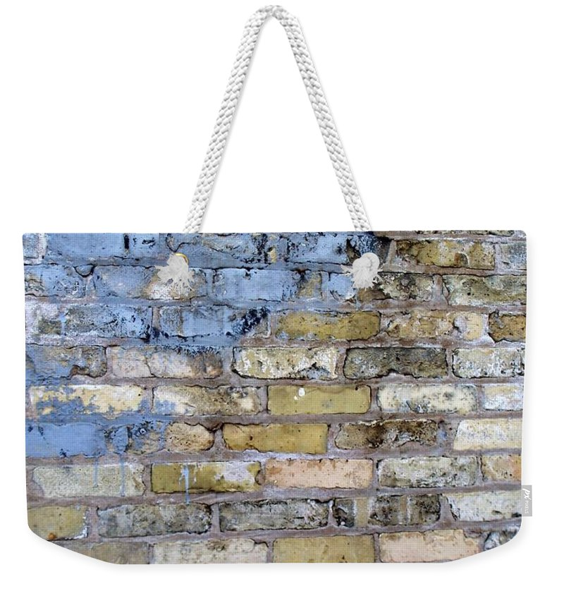 Industrial Weekender Tote Bag featuring the photograph Abstract Brick 6 by Anita Burgermeister