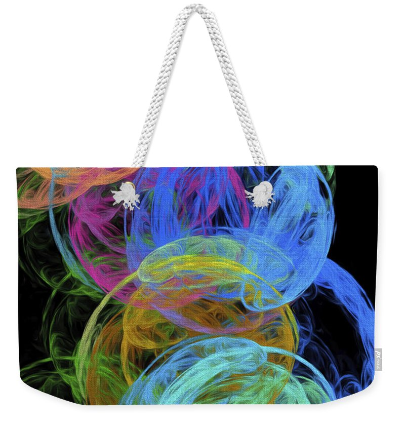 Andee Design Abstract Weekender Tote Bag featuring the digital art Abstract Bubbles by Andee Design