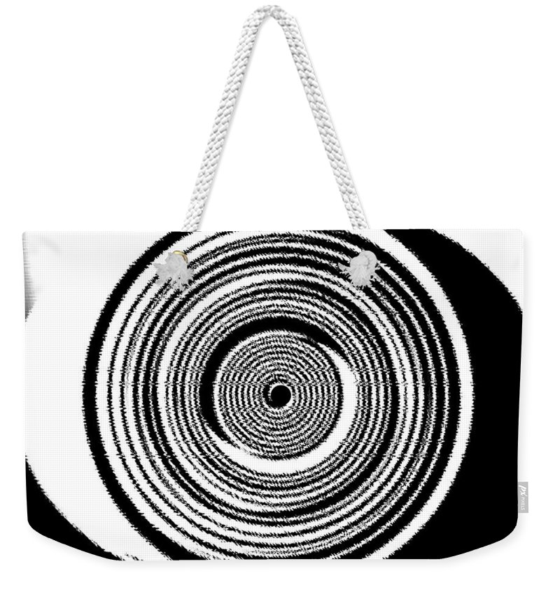 Abstract Weekender Tote Bag featuring the digital art Abstract Clock Spring by Will Borden