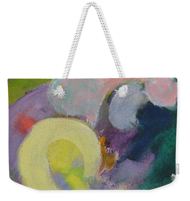 Abstact Weekender Tote Bag featuring the painting Abstract Close Up 15 by Anita Burgermeister