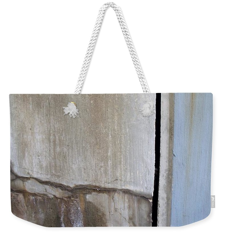 Industrial. Urban Weekender Tote Bag featuring the photograph Abstract Concrete 1 by Anita Burgermeister