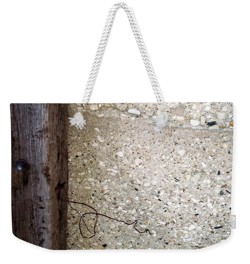 Industrial. Urban Weekender Tote Bag featuring the photograph Abstract Concrete 12 by Anita Burgermeister