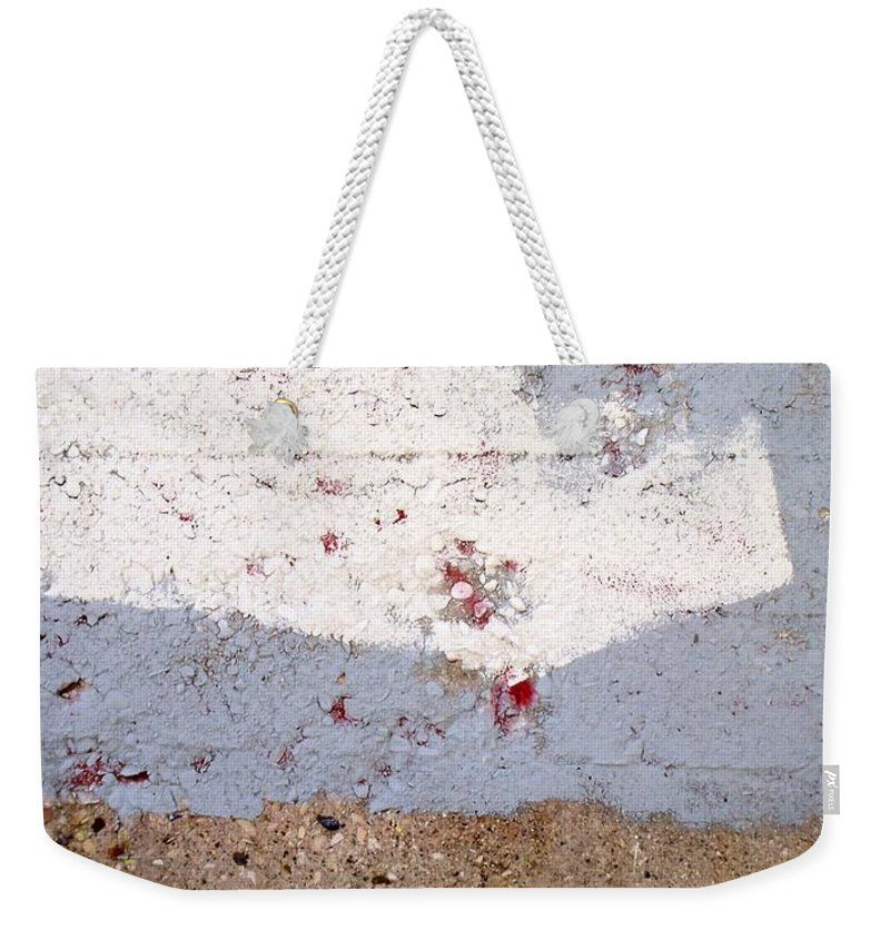 Industrial. Urban Weekender Tote Bag featuring the photograph Abstract Concrete 13 by Anita Burgermeister