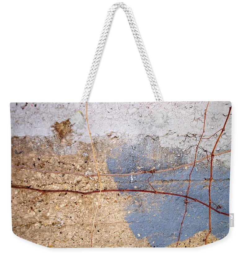 Industrial. Urban Weekender Tote Bag featuring the photograph Abstract Concrete 15 by Anita Burgermeister
