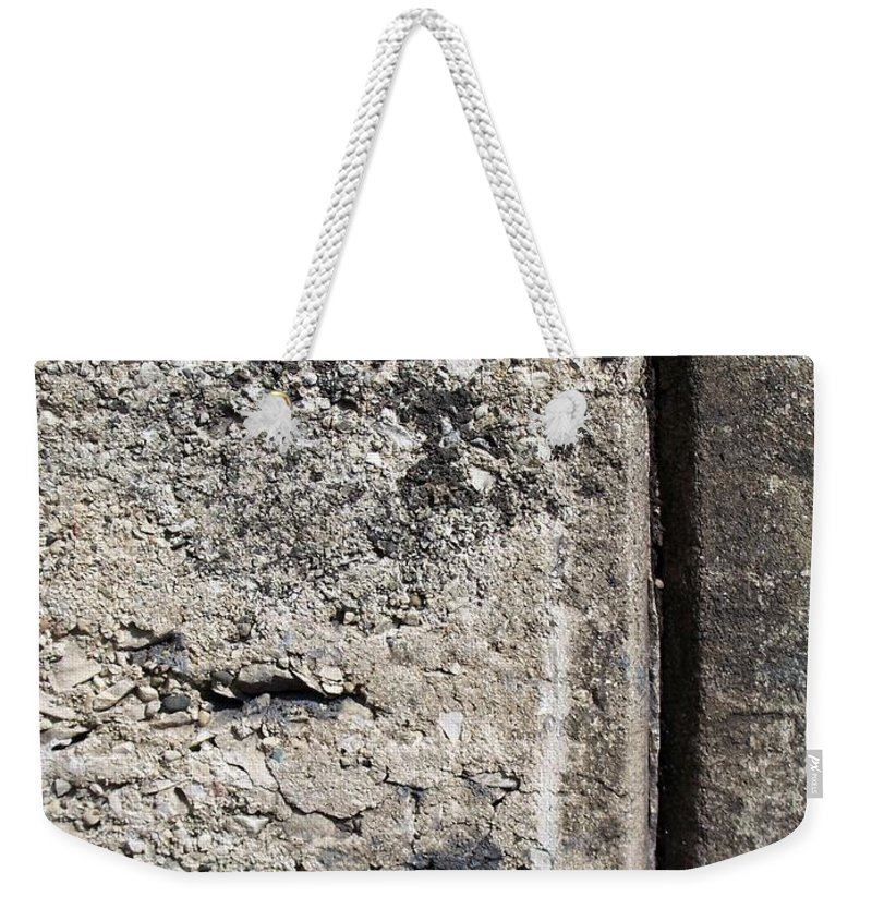 Industrial. Urban Weekender Tote Bag featuring the photograph Abstract Concrete 16 by Anita Burgermeister