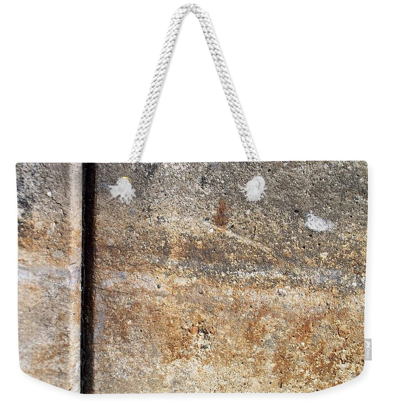 Industrial. Urban Weekender Tote Bag featuring the photograph Abstract Concrete 17 by Anita Burgermeister