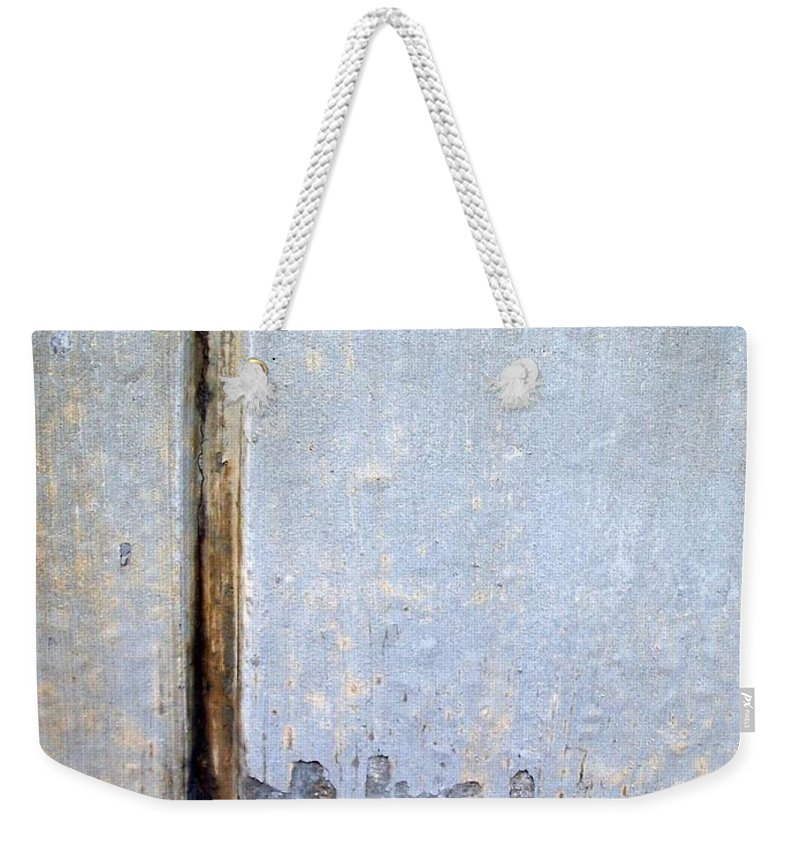 Industrial. Urban Weekender Tote Bag featuring the photograph Abstract Concrete 19 by Anita Burgermeister