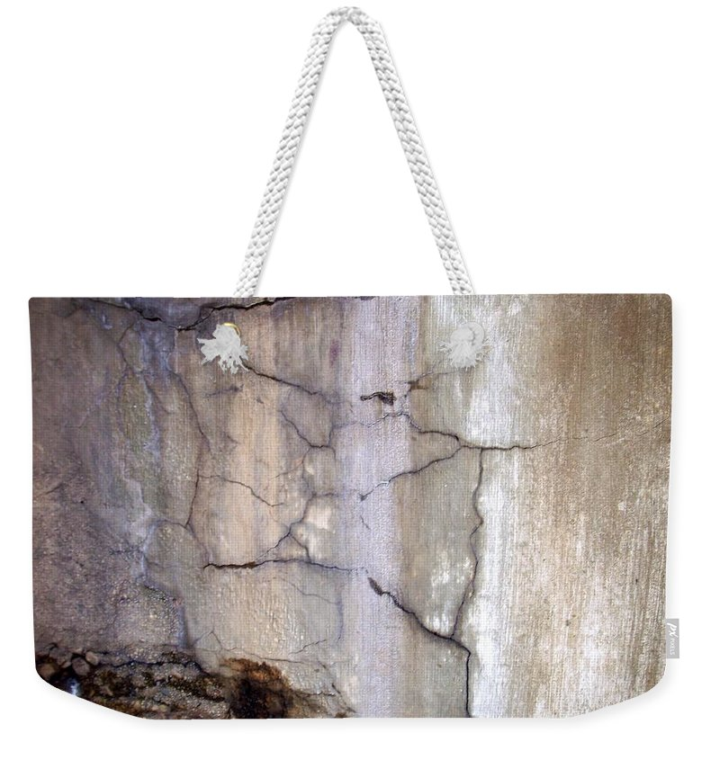 Industrial. Urban Weekender Tote Bag featuring the photograph Abstract Concrete 2 by Anita Burgermeister