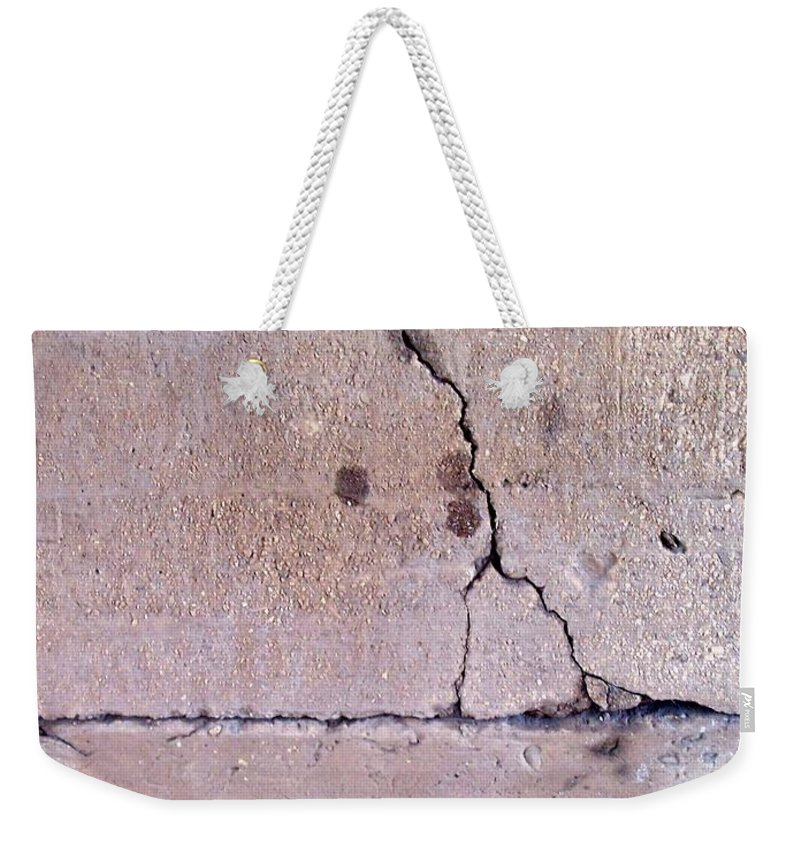 Industrial. Urban Weekender Tote Bag featuring the photograph Abstract Concrete 3 by Anita Burgermeister