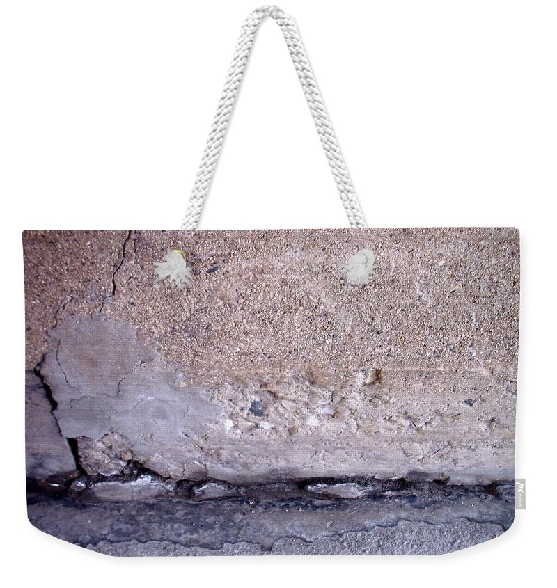 Industrial. Urban Weekender Tote Bag featuring the photograph Abstract Concrete 4 by Anita Burgermeister