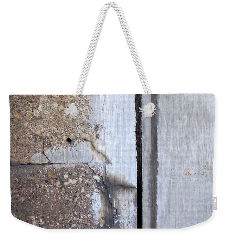 Industrial. Urban Weekender Tote Bag featuring the photograph Abstract Concrete 5 by Anita Burgermeister