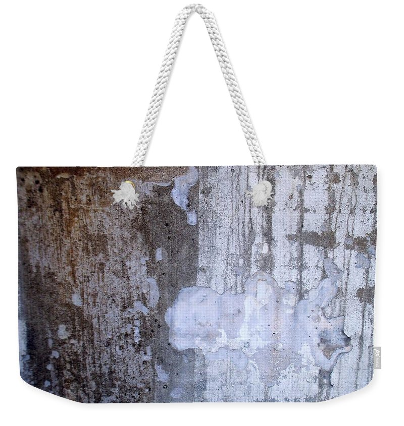 Industrial. Urban Weekender Tote Bag featuring the photograph Abstract Concrete 8 by Anita Burgermeister