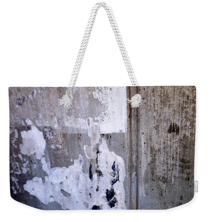 Industrial. Urban Weekender Tote Bag featuring the photograph Abstract Concrete 9 by Anita Burgermeister