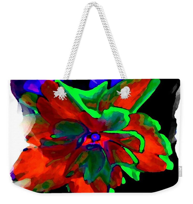 Abstract Weekender Tote Bag featuring the digital art Abstract Elegance by Will Borden