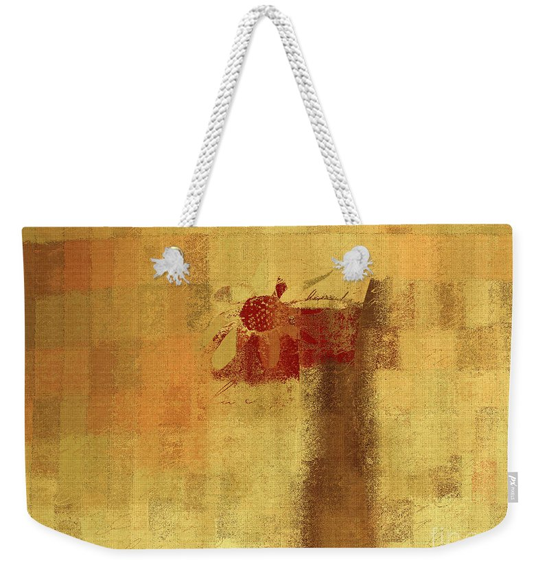 Abstract Weekender Tote Bag featuring the digital art Abstract Floral - 14v2ft by Variance Collections