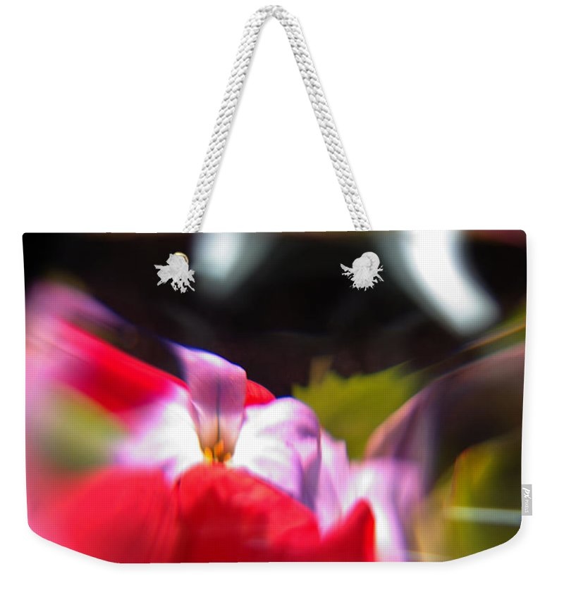 Abstract Weekender Tote Bag featuring the photograph Abstract Flowers Part Two by Scott Wyatt