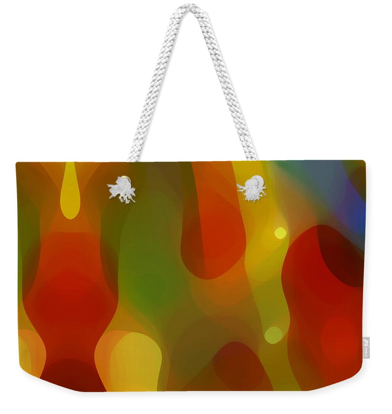 Abstract Art Weekender Tote Bag featuring the painting Abstract Flowing Light by Amy Vangsgard