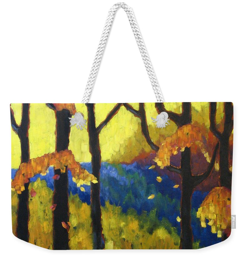Art Weekender Tote Bag featuring the painting Abstract Forest by Richard T Pranke