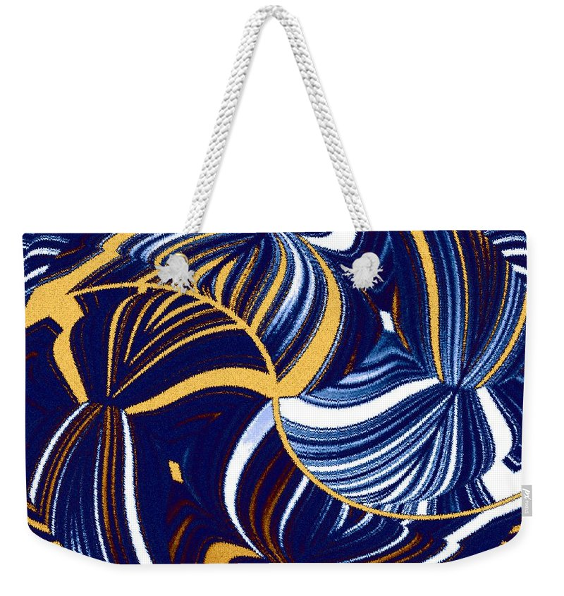 Abstract Weekender Tote Bag featuring the digital art Abstract Fusion 279 by Will Borden