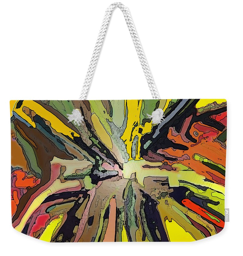 Abstract Weekender Tote Bag featuring the digital art Abstract Garden Defined by Ian MacDonald