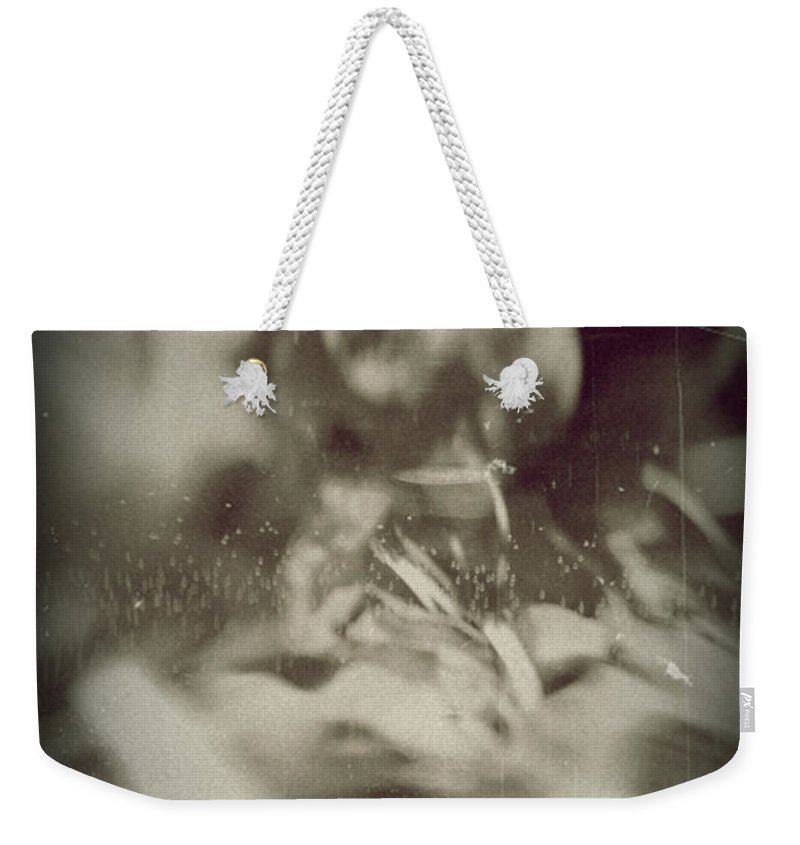 Abstract Weekender Tote Bag featuring the photograph Abstract Glass by Scott Wyatt