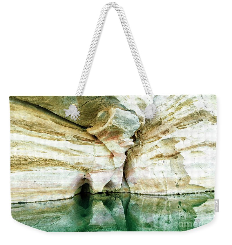 Abstract Weekender Tote Bag featuring the photograph Abstract Gorge by Genevieve Vallee