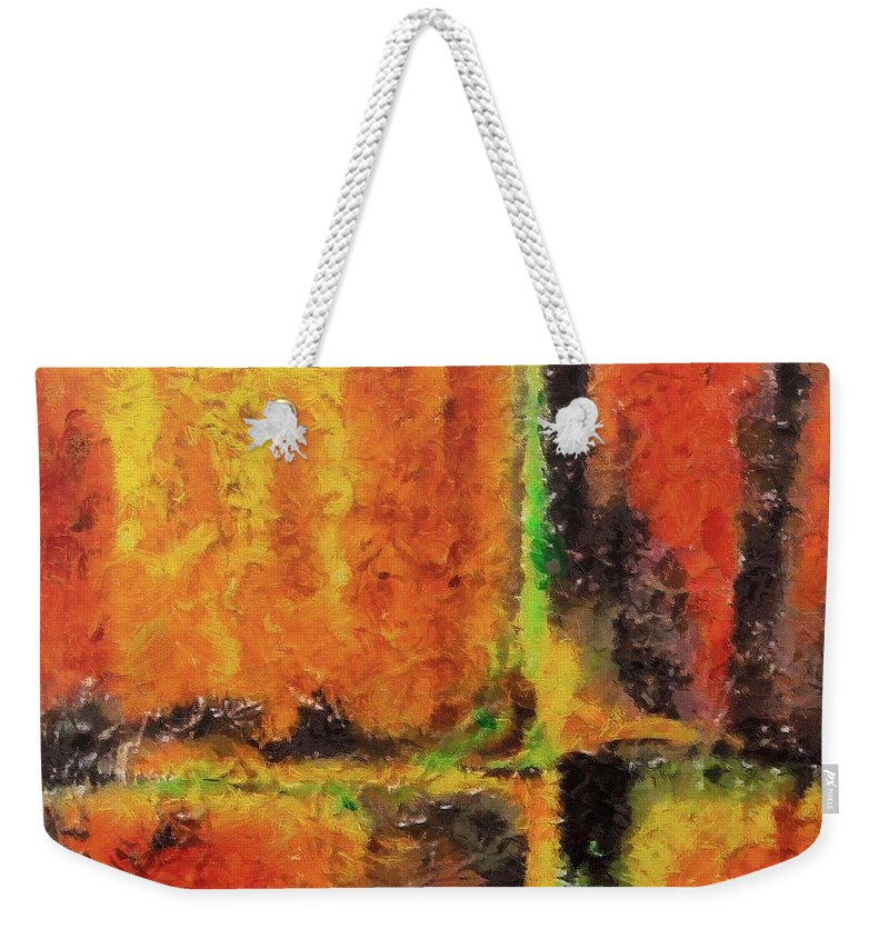 Abstract Weekender Tote Bag featuring the mixed media abstract I by Dragica Micki Fortuna