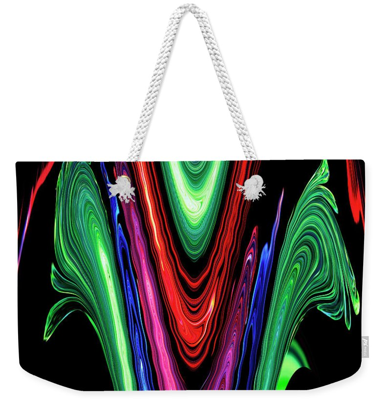 Abstract Weekender Tote Bag featuring the digital art Abstract II by DigiArt Diaries by Vicky B Fuller