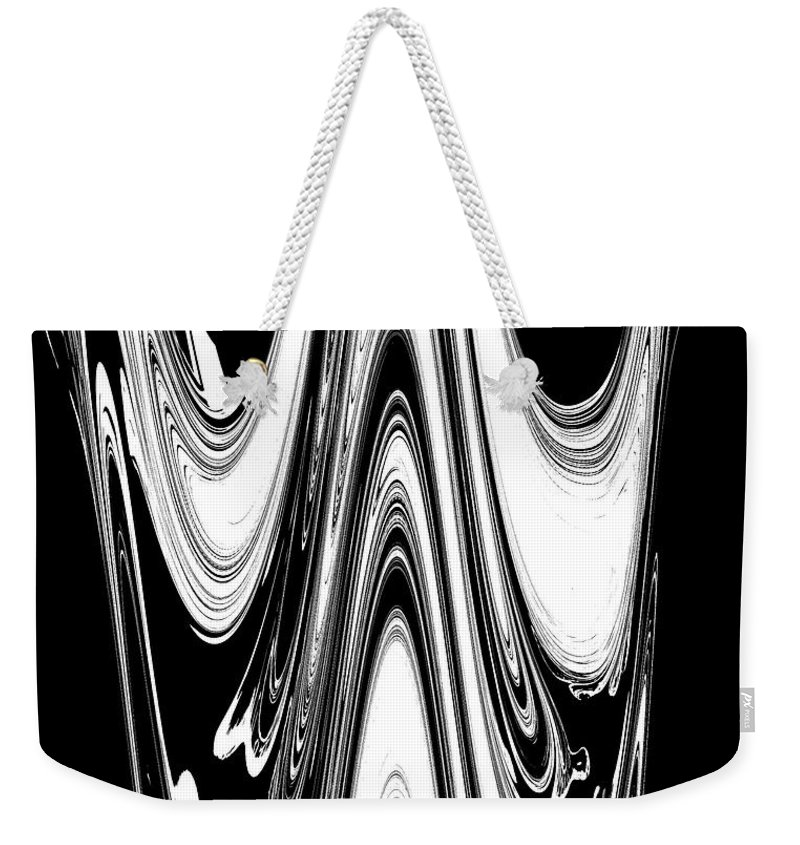 Abstract Weekender Tote Bag featuring the digital art Abstract IIi Death Mask by DigiArt Diaries by Vicky B Fuller