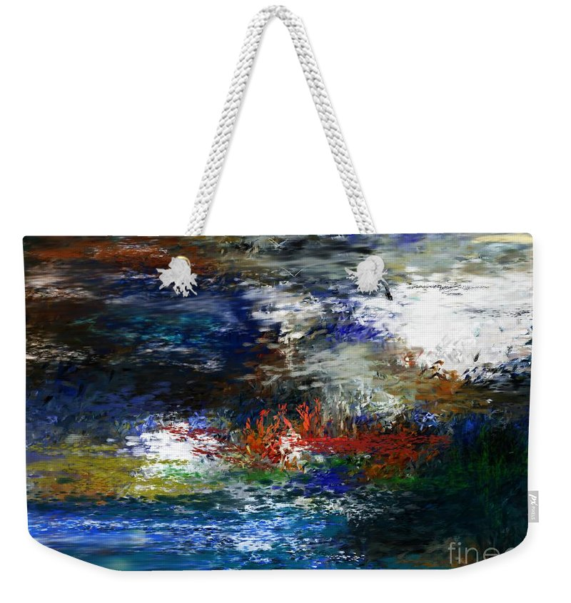Abstract Weekender Tote Bag featuring the digital art Abstract Impression 5-9-09 by David Lane