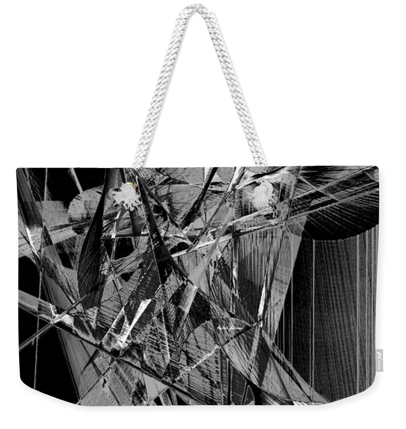 Art Weekender Tote Bag featuring the digital art Abstract In Black And White 2 by Rafael Salazar