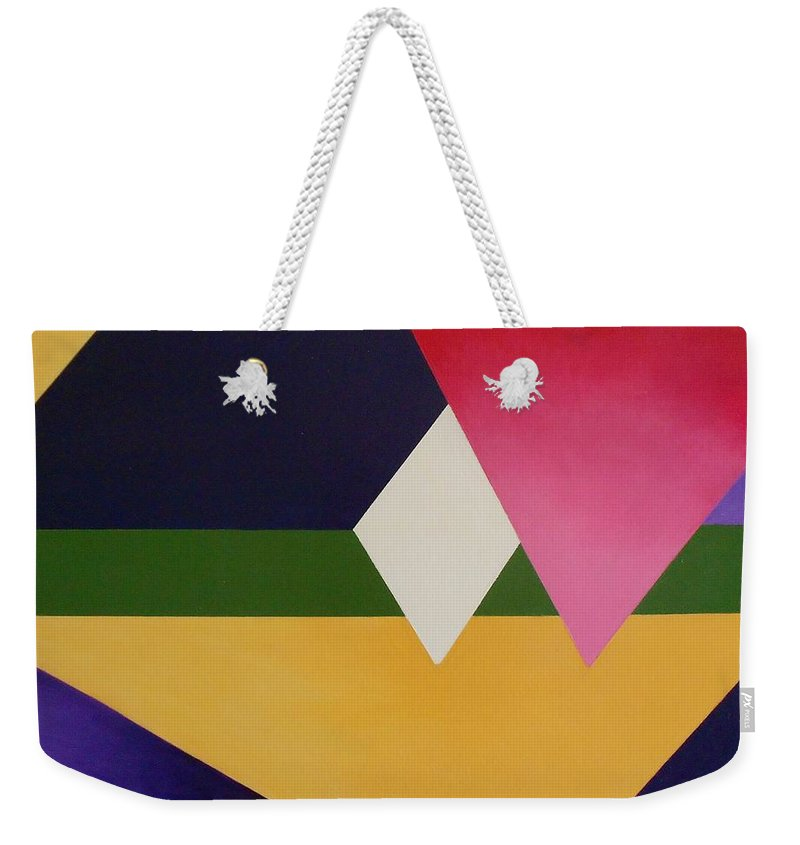 Abstract Weekender Tote Bag featuring the painting Abstract by Jamie Frier