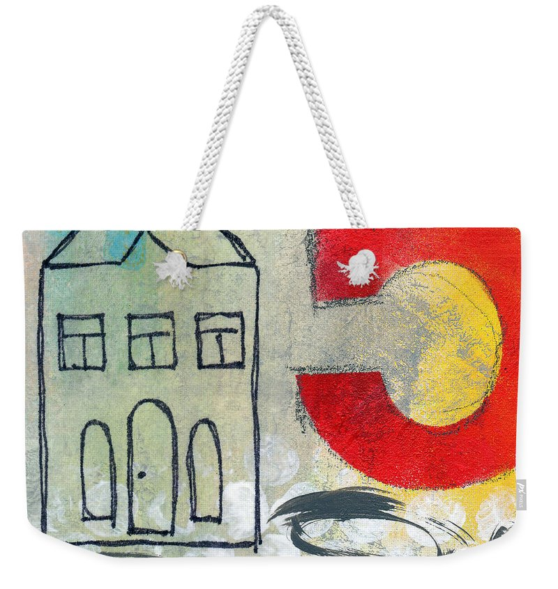 House Weekender Tote Bag featuring the painting Abstract Landscape by Linda Woods