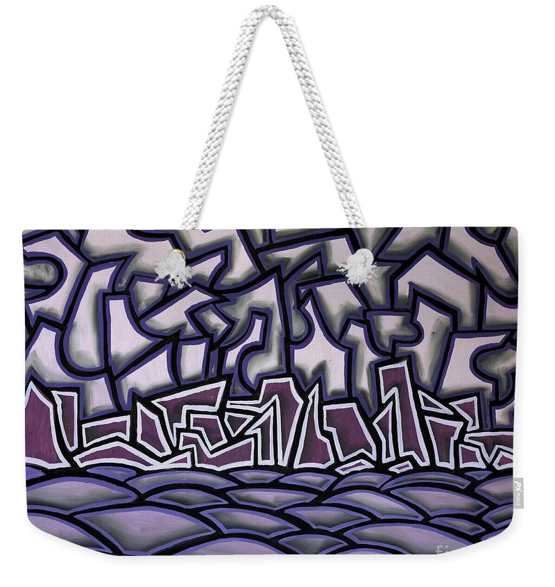 Landscape Weekender Tote Bag featuring the painting Abstract Landscape by Thomas Valentine