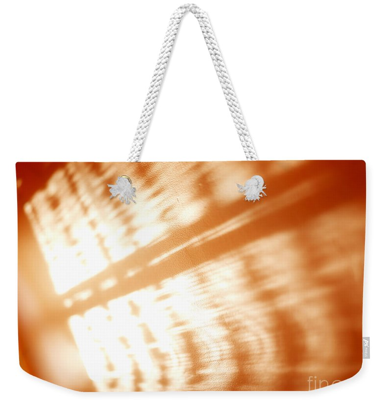 Abstract Weekender Tote Bag featuring the photograph Abstract Light Rays by Tony Cordoza