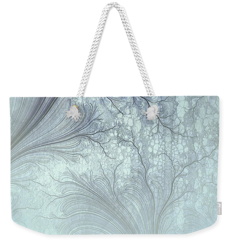 Robert Kernodle Digital Abstracts Weekender Tote Bag featuring the digital art Abstract No 21 by Robert G Kernodle