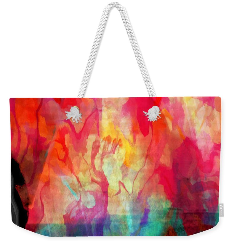 Abstract Weekender Tote Bag featuring the photograph Abstract Painting by Tom Gowanlock