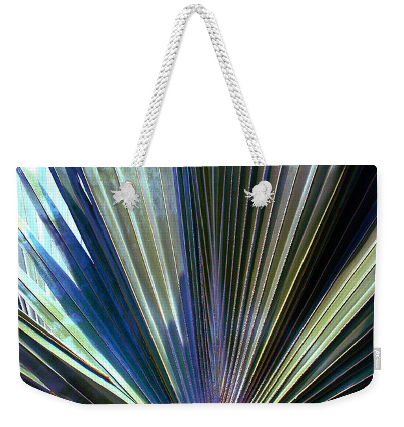 Palm Leaf Weekender Tote Bag featuring the photograph Abstract Palm Leaf by Susanne Van Hulst