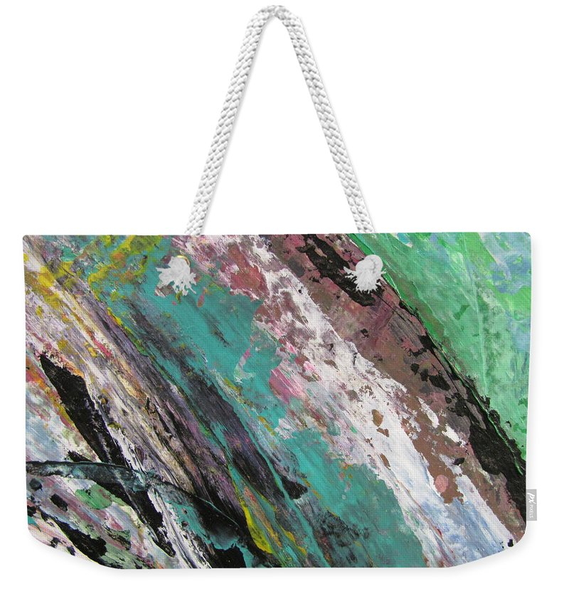 Abstract Weekender Tote Bag featuring the painting Abstract Piano 2 by Anita Burgermeister