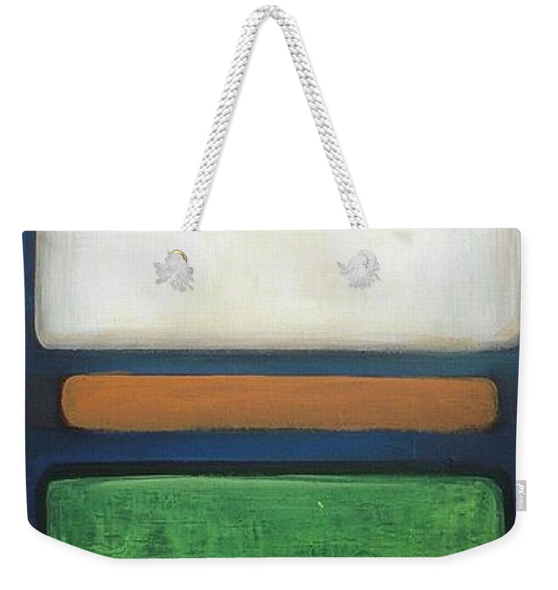 Abstract Painting Weekender Tote Bag featuring the painting Abstract - Rothko by Vesna Antic