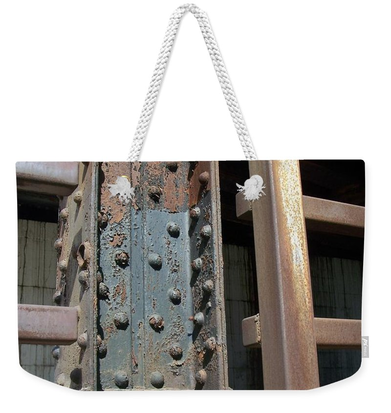 Urban Weekender Tote Bag featuring the photograph Abstract Rust 1 by Anita Burgermeister