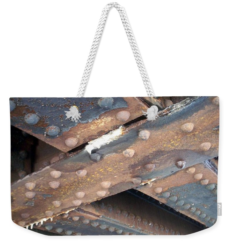 Urban Weekender Tote Bag featuring the photograph Abstract Rust 2 by Anita Burgermeister