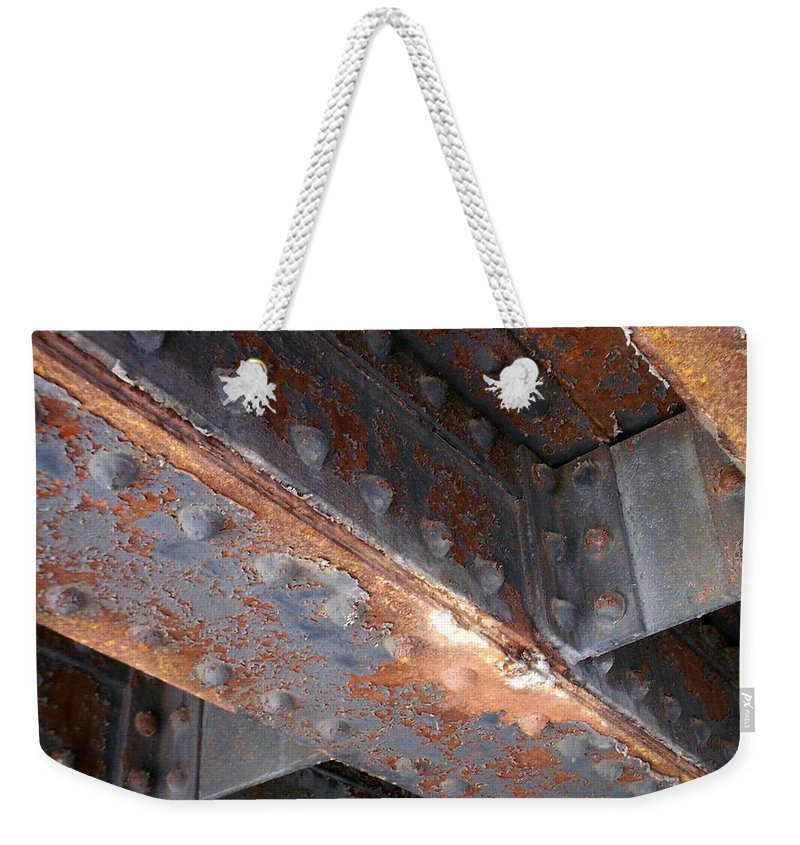 Urban Weekender Tote Bag featuring the photograph Abstract Rust 3 by Anita Burgermeister